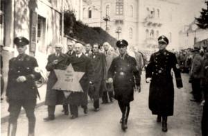Kristallnacht in Baden Baden, Germany