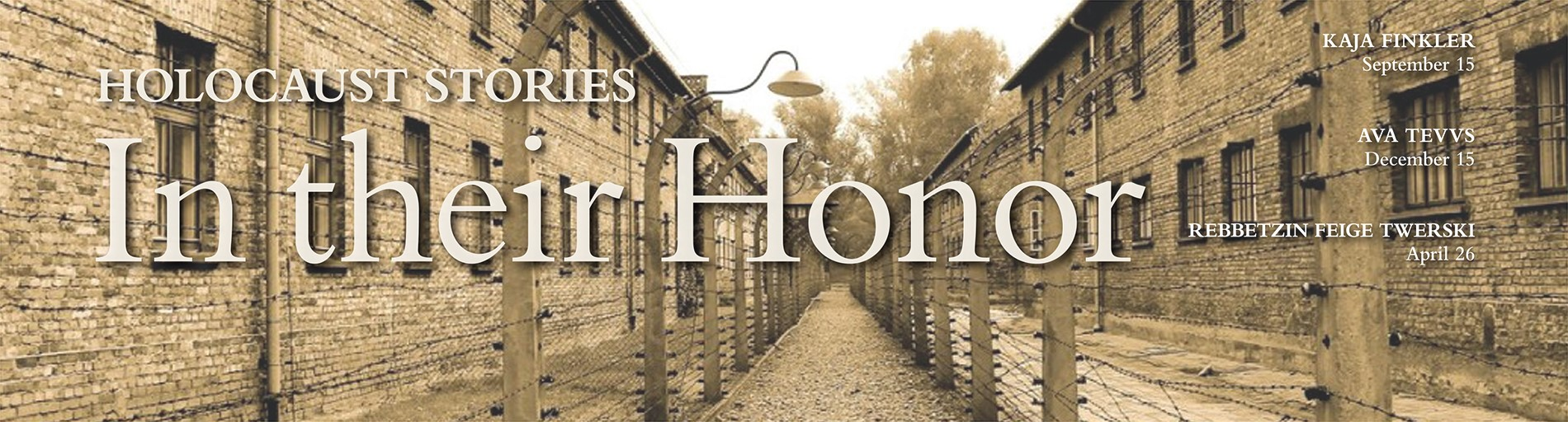 Hear the Stories of Local Holocaust Survivors