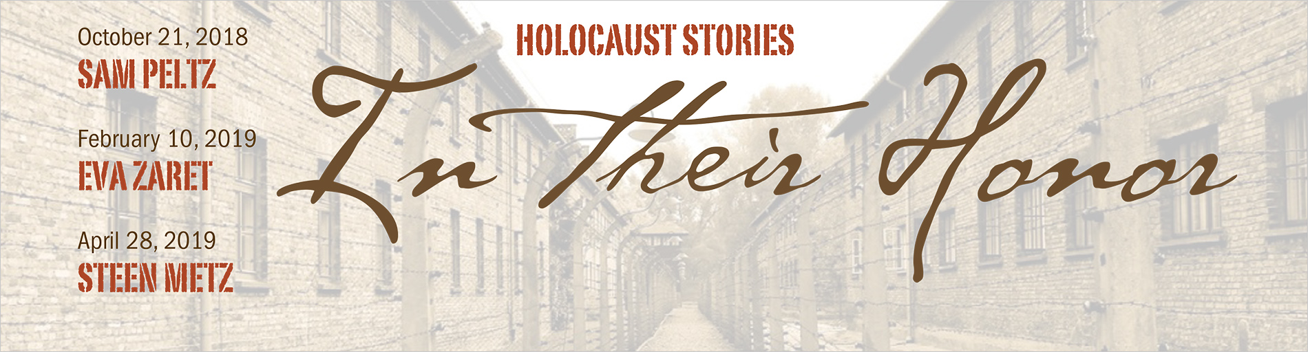 Holocaust Stories: In their Honor
